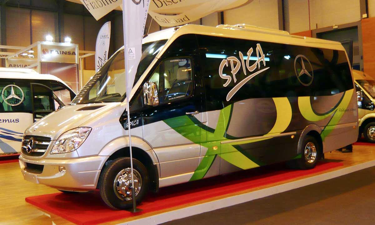 Presentación de nuestro microbús en IFEMA